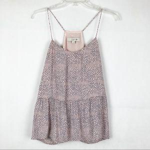 LOFT | Pink Sleeveless Peplum Top